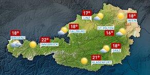 Das Wetter morgen in Österreich