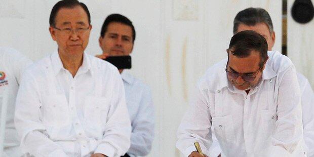 Friedensvertrag in Kolumbien unterzeichnet