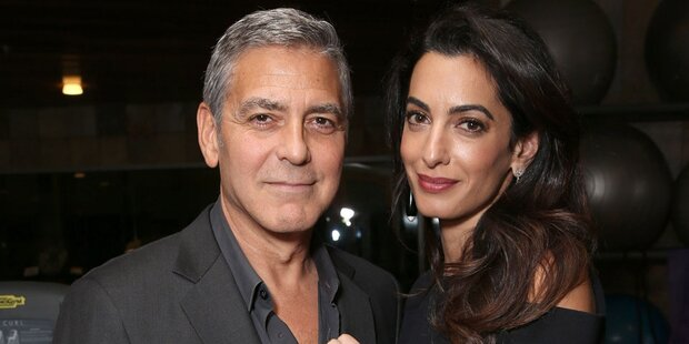 Clooney-Zwillinge: George ist nervös