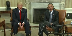 Obama empfängt Trump im Weißen Haus