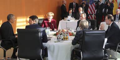 Obama Merkel May Rajoy Renzi Hollande