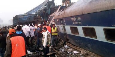 Indien: Fast 100 Tote nach Zugunglück