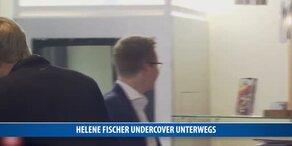 Helene Fischer Undercover unterwegs