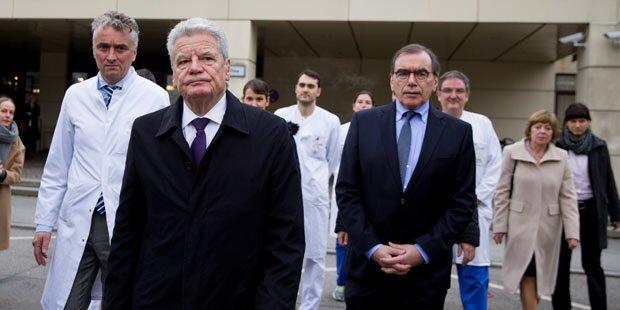 Präsident Gauck besuchte Verletzte