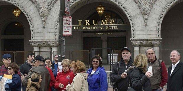 Mann zündet sich vor Trump-Hotel an