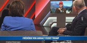 Frédéric von Anhalt feiert Donald Trump