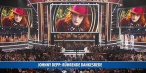 Johnny Depp hält rührende Dankesrede