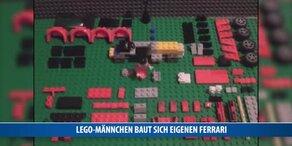 Lego-Männchen baut Ferrari