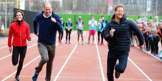 Kate, William & Harry: Heißes Wettrennen