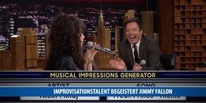 Improvisationstalent begeistert Jimmy Fallon