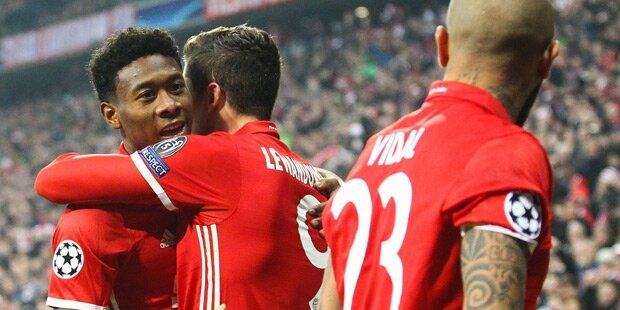 Bayern überrollt Arsenal - Real gewinnt