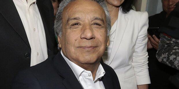 Wahl in Ecuador: Ex-Vizepräsident Moreno laut Prognose vorn