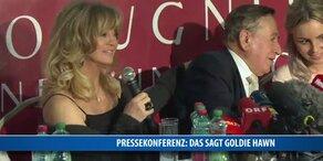 Pressekonferenz mit Godlie Hawn
