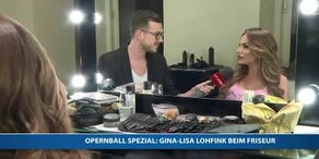 Gina Lisa Lohfink beim Friseur