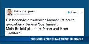 So reagieren Politiker auf den Tod von Oberhauser