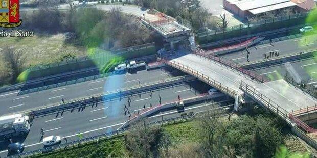 Autobahnbrücke stürzt ein: Ehepaar tot