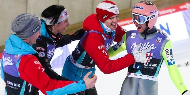 ÖSV-Adler triumphieren im Teambewerb
