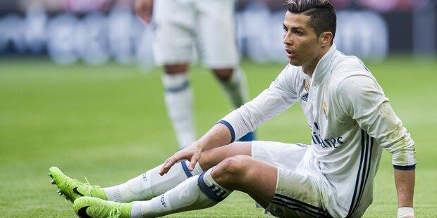 Verrückt: Ronaldo geht auf Zidane los