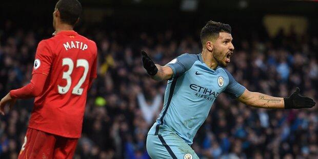 Aguero rettet Guardiola gegen Klopp