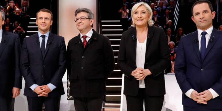 Erste TV-Debatte von Le Pen und Co.