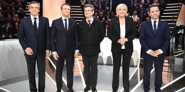 Harte Attacken gegen Le Pen im ersten TV-Duell