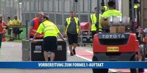 Vorbereitungen zum Formel1-Auftakt