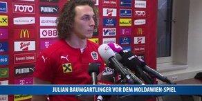 Julian Baumgartlinger vor dem Moldawien-Spiel