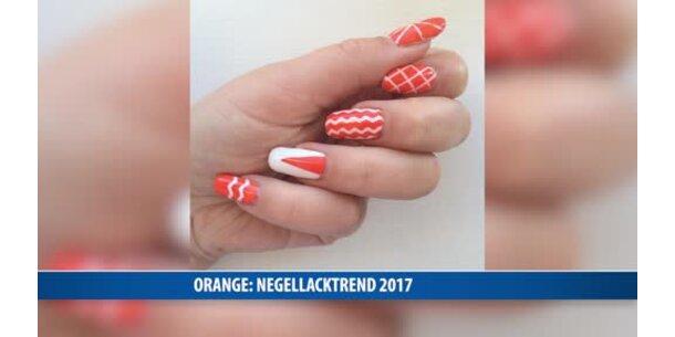 nagellack trend 2017 orange. Black Bedroom Furniture Sets. Home Design Ideas