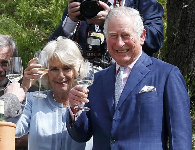 Charles & Camilla beim Winzer