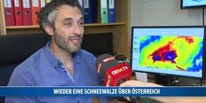 Wieder eine Schneewalze über Österreich