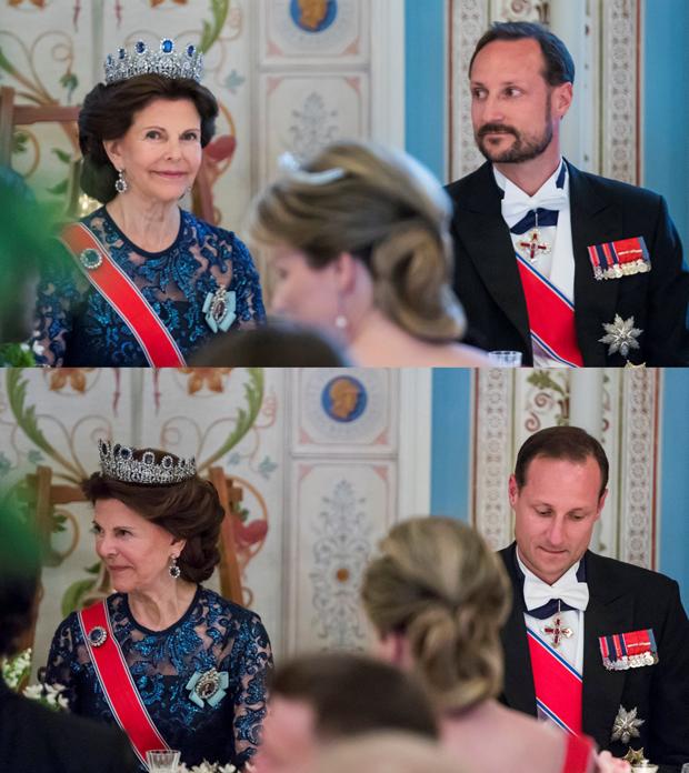 Prinz haakon und Königin Silivia