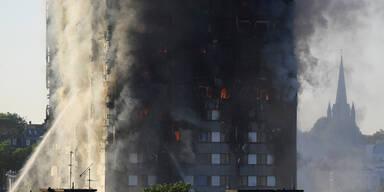 Hochhaus in Flammen - mehrere Tote