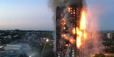 London Feuer Hochhaus-Brand
