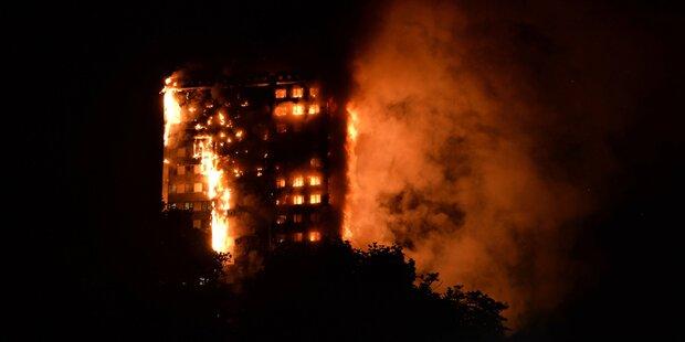 Hochhausbrand: 151 Wohnungen zerstört