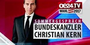 Kanzler Kern im oe24.TV-Sommergespräch