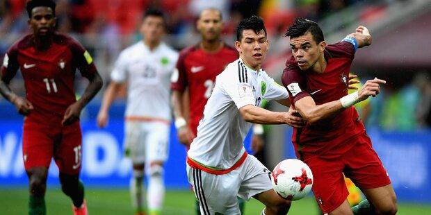 Platz 3: Portugal ringt Mexiko nieder