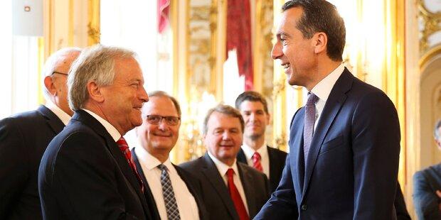 Kanzler Kern witzelt über ÖFB-Herren