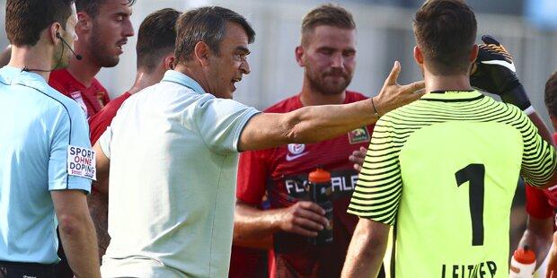 Admira-Coach wütet nach LASK-Spektakel