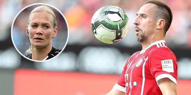 Kurios: Ribery veralbert Schiedsrichterin