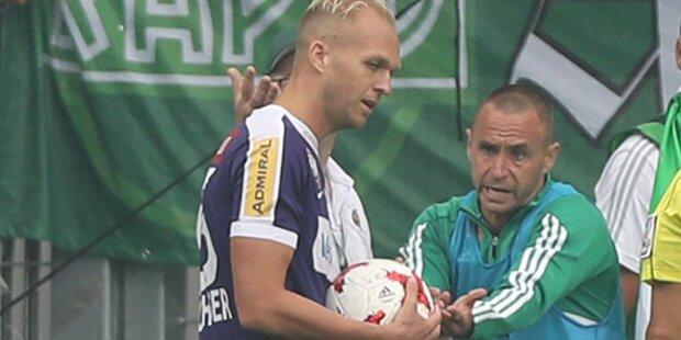 Skandal: Rapid-Ordner hatte Stadionverbot