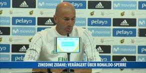 Zinedine Zidane: Verärgert über Ronaldo-Sperre