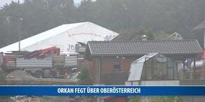 Orkan fegt über Oberösterreich