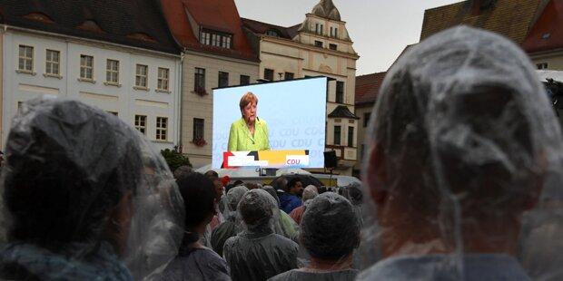 Merkel bei Wahlkampf-Auftritt gnadenlos ausgepfiffen