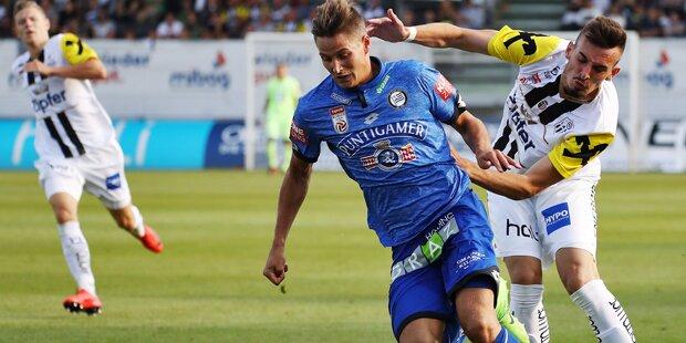 2:1 - LASK stoppt Leader Sturm Graz