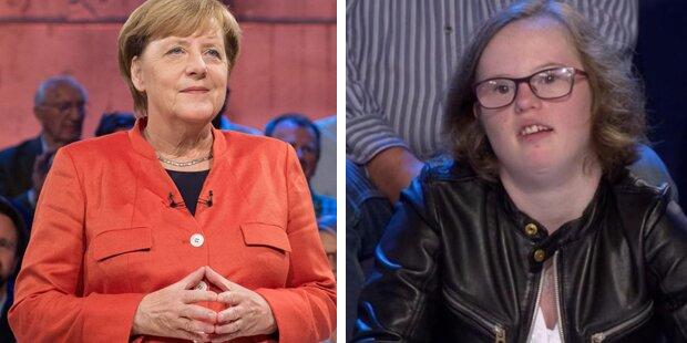 Mädchen mit Downsyndrom rührte Merkel in Wahl-Show