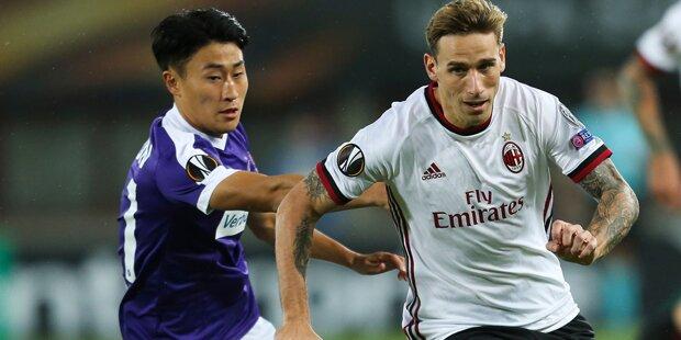 1:5 - Austria geht gegen AC Milan unter