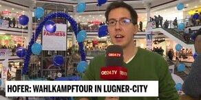 Norbert Hofer in der Lugner-City