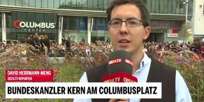 Bundeskanzler Kern am Columbusplatz