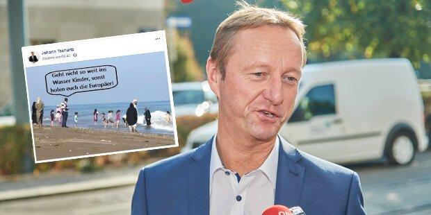 Vizelandeshauptmann schockiert mit Flüchtlings-Posting