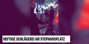 Wilde Prügelei am Stephansplatz